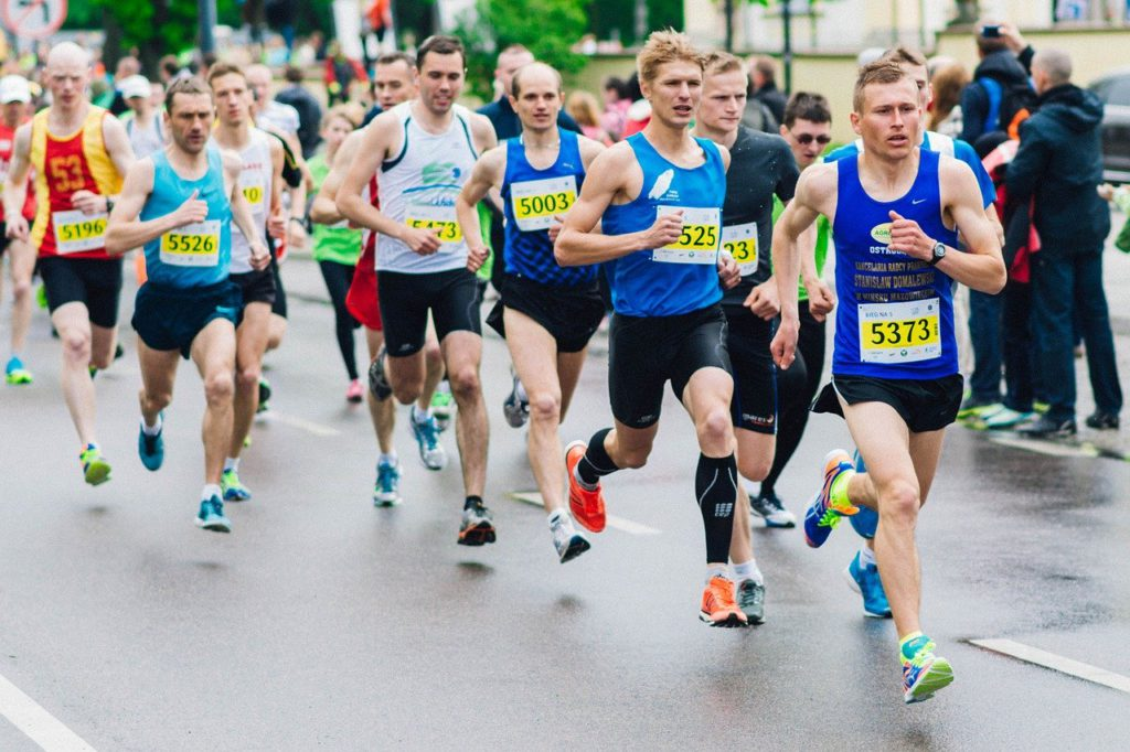 race, marathon, runners